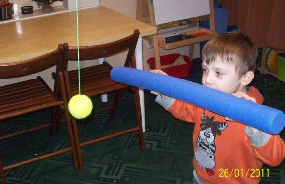 Stymulacja funkcji wzrokowych z piłką Marsdena